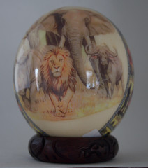 African Ostrich Egg (straubted) Tags: decoupage ostricheggs