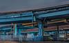 central stacked (pbo31) Tags: bayarea california nikon d810 color night dark black january 2018 winter city urban boury pbo31 sanfrancisco lightstream motion traffic roadway 101 centralfreeway steel overpass elevated soma somisspo