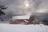 Red Barn in Winter # 450 (Mike Linnihan) Tags: winter barn