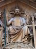 Christ of the Last Judgment (ca. 1230-1240). Paris cathedral Notre-Dame, west facade, central portal, detail of the tympanum. (markusschlicht) Tags: paris cathedral notredame kathedrale cathédrale tympan tympanum tympan13thcentury 13jahrhundert gothique gothic gotico gotisch gotik statue skulptur sculpture escultura medieval médiéval mittelalter