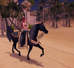 Earth and Her Arabian (SunTvilling) Tags: zaara secondlife waterhorse arabian jinx bento laq truthhair slink physique the painted pony