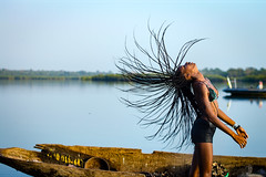 (Conscious Scofield) Tags: guinea bissau guine quinhamel river rio fisherman oysters oyster ostra model fashion goddess hairs afro darkskin street photography kids kid smile smiles children africa african