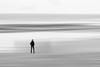 Dead Man Walking (sdupimages) Tags: purewhite smileonsaturday minimalisme bw nb noirblanc blackwhite plage flou mer sea ocean beach blur photoshop personne man abstrait abstract