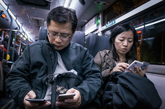 Busy Life (Pai Shih) Tags: people bus smartphone snapshot streetphotography