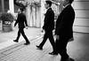 Jan 01, 2018 (pavelkhurlapov) Tags: suit black wedding groomsman men guys monochrome streetphotography pattern walking groom