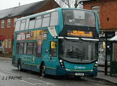 Arriva Midlands (4529) ADL Enviro400 MMC - YX16 OKH (J.J.Pay 4615) Tags: alexander dennis 5 bus uk leicester syston yx16okh snow