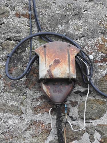 Electricity Wall Box, Upton Ope, Helston, Cornwall 22 January 2018