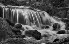 Over the Edge (arbyreed) Tags: arbyreed stream longexposure slowshutterspeed monochrome bw blackandwhtie motionblur