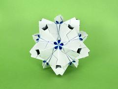 Androsace (masha_losk) Tags: kusudama кусудама origamiwork origamiart foliage origami paper paperfolding modularorigami unitorigami модульноеоригами оригами бумага folded symmetry design handmade art