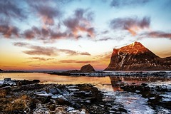 One cold and colorful day in the Arctic (steinliland) Tags: artic winter sea fjord