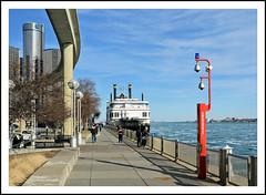 The Detroit Princess Riverboat on the Detroit River (sjb4photos) Tags: michigan detroit renaissancecenter detroitriver detroitprincess riverboat detroitpeoplemover