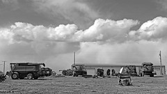 There and back (pjwoodland) Tags: saskatchewan roadtrip clouds sky farm farmequipment