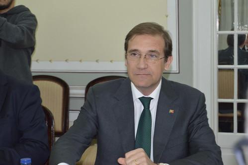 O Presidente do Partido Social Democrata com o Presidente da Eslovénia.