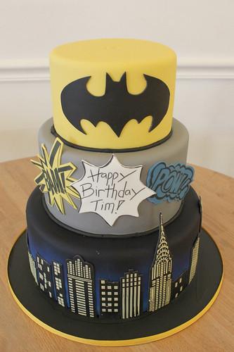 Batman Skyline Birthday Cake