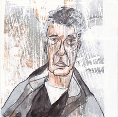 # 262 2018-02-03 (h e r m a n) Tags: herman illustratie tekening 10x10cm tegeltje drawing illustration karton carton cardboard kunst art portrait portret
