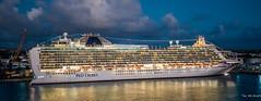 2017 - Regent Cruise - Bridgetown, Barbados - P&O Azura (Ted's photos - For Me & You) Tags: 2017 barbados bridgetownbarbados cropped nikon nikond750 nikonfx regentcruise tedmcgrath tedsphotos vignetting po poazura pocruises ship boat reflection waterreflection wideangle widescreen