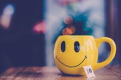 Happy Tea! (BGDL) Tags: lightroomcc nikond7000 bgdl niftyfifty afsnikkor50mm118g kitchen cup mug smiley bokeh teabag 7daysofshooting week31 coffeeteaorwhatelsedowedrink geometrysunday