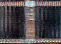 Magnetic-core memory (Andreas.Huppert) Tags: abstract computer copper graphic iron macro magnetic mannheim memory technology technoseum badenwürttemberg germany de