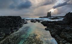 Cathedral Rocks || Kiama Downs (David Marriott - Sydney) Tags: kiamadowns newsouthwales australia au cathedral rocks dawn sunrise cloud kiama reflection