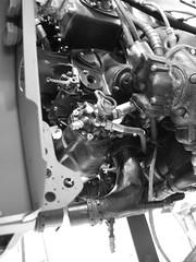 Me109 G2  WrkNr 14055  NI + BY (flyhistorie) Tags: cable interiør original restoration jg5 luftwaffe jærmuseet flymuseum sola messerschmitt bf109 me109 system wiring switch engine db605 daimlerbenz bw blackandwite
