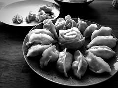Fried Dumplings Arranged (vaquey) Tags: rose vegetarian fried delicious food mono dumplings