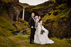 Ashley & Johnny (LalliSig) Tags: wedding photographer iceland summer july portrait portraiture people water waterfall