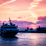 February sunset by the port thumbnail