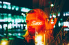 You in your skinny jeans anyway (Louis Dazy) Tags: 35mm analog film double exposure neon bokeh portrait dark night man