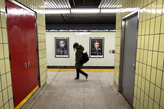 Judging Portraits (cookedphotos) Tags: 2018inpictures toronto ontario canada canon 5dmarkiv streetphotography ttc subway osgoode station woman walking portraits iphone apple iphonex 365project p3652018