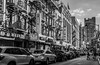 Street Life NYC (Katrina Wright) Tags: dsc5882 street traffic bw monochrome chinatown nyc newyork pedestrian buildings