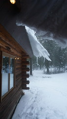 Snow and Ice build up again on the roof (spelio) Tags: mtus jan 2018 jills under eves eaves snow ice roof montana usa 1111views040318