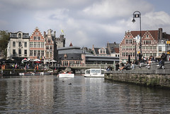 Ghent - View from the water (Kotomi_) Tags: ghent belgium trip travel water riverboat boattrip