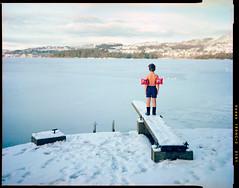 (Eirik Holmøyvik) Tags: swim ice 4x5 portra kodak schneider largeformat boy diving norway chamonix