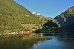 Geirangerfjord (Eddie Crutchley) Tags: cruise2017norwayicelandireland europe norway outdoor nature beauty blueskies sunlight simplysuperb fjord geirangerfjord mountain water greatphotographers