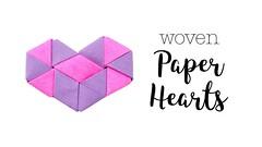Origami Woven Paper Hearts Tutorial ♥︎ Valentine's DIY ♥︎ Paper Kawaii (paperkawaii) Tags: origami instructions paperkawaii papercraft diy how video youtube tutorial