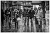 Evergreen (ianrwmccracken) Tags: edinburgh street people city sony canon wet candid scotland monochrome paving ianmccracken bw umbrella winter telephoto a6000 rain pavement fd70210mmf4