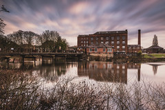 Darley Abbey Mews (Steve Millward) Tags: nikon nikkor d750 2470 fx fullframe leefilters lee09hardndgrad leelittlestopper leelandscapepolariser manfrotto stevemillward perspective composition interesting light texture tone mood moment dawn winter sky cloud cloudy nature landscape scenic beautiful drama dramatic outdoor outside england derby midlands eastmidlands darleyabbey darleyabbeymews longexposure water river reflection