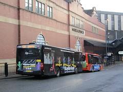Group Go North East 5279 NK07KPO on 12A & 5300 NK08CHF on X85 Eldon Sq Bus Stn, Newcastle (1280x960) (dearingbuspix) Tags: goahead gonortheast theblaydonracer 5279 nk07kpo tynedaleexpress nk08chf 5300