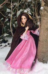 Something There... (MaxxieJames) Tags: belle beauty beast disney doll barbie mattel ooak custom winter snow princess outdoors made move