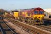 66093 Class 66/0 locomotive (Roger Wasley) Tags: 66093 class66 ews dbcargo salisbury westbury down eastleigh eastyard wiltshire trains railways freight locomotive diesel