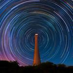 Star Trails at Guilderton Lighthouse, Western Australia thumbnail