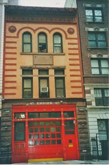 New York City - New York - Manhattan - Historic Fire Station - Engine 47 (Onasill ~ Bill Badzo) Tags: nyc newyork state manhattan 47 engine station fire hall landmark nrhp preservation onasill romanesque architecture style 1890 fdny amsterdam ave vintage old photo red