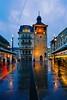 Genève - tour de l'Ile - heure bleue (olivierurban) Tags: genèvegeneva suisse switzerland ile tour tower island centre center sonyilce6000 e1018mmf4oss