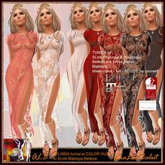 ALB BELINDA dress toga - to DYE by yourself (AnaLee Balut) Tags: lace analeebalut alb toga tunica dress albdreamfashion secondlife sl fashion design hud todye sexy nightwear