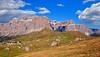 View toward Sella Towers (Atilla2008) Tags: sella sassolungo dolomites italy wow mountains hiking d90 nikon italia sudtirol