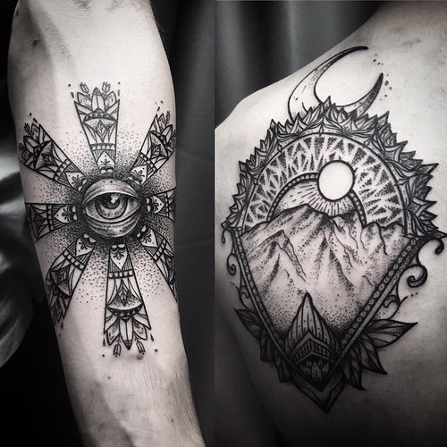 Ayrton sickbird tattoo eye montain