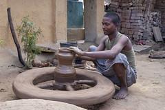 Kawardha - Chhattisgarh - India (wietsej) Tags: kawardha chhattisgarh india konica minolta digital camera minoltadynax7 minolta28105mmf3545afxi 28105 pottery tribal man rural village
