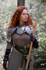 Ronee Collins 9-29-2016 (oberonsson) Tags: roneecollins warrior woman womanwarrior larp cosplay knight female redhead chainmail spear medieval