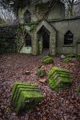Talysarn Chapel (ShrubMonkey (Julian Heritage)) Tags: talysarn building overgrown decay ruin abandoned derelict lost forsaken dorothea quarry glen details green moss growth slate chapel nantlle blocks