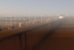 Foggy (Heinze Detlef) Tags: kühlungsborn nebel strandpromenade strandkörbe wasser bootssteg foggy